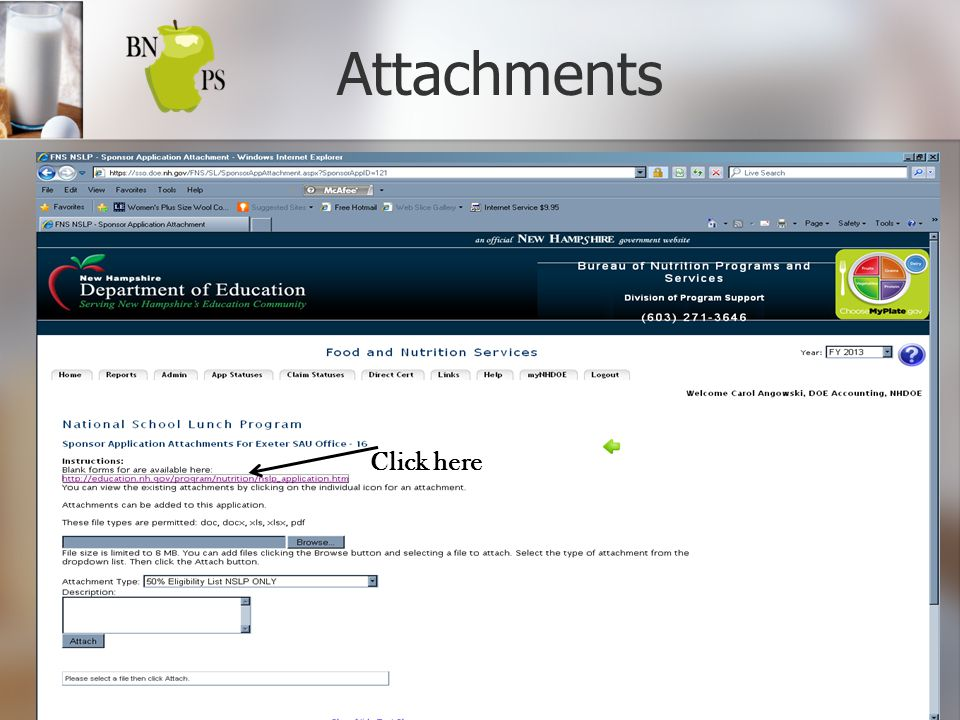 Attachments Click here