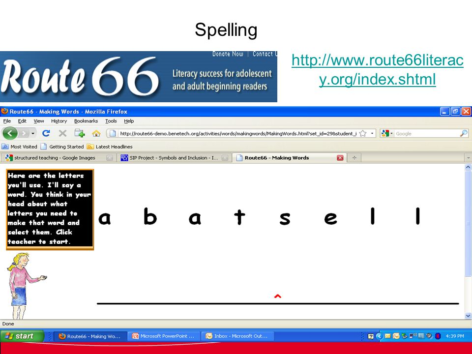 http://www.route66literac y.org/index.shtml Spelling patterns