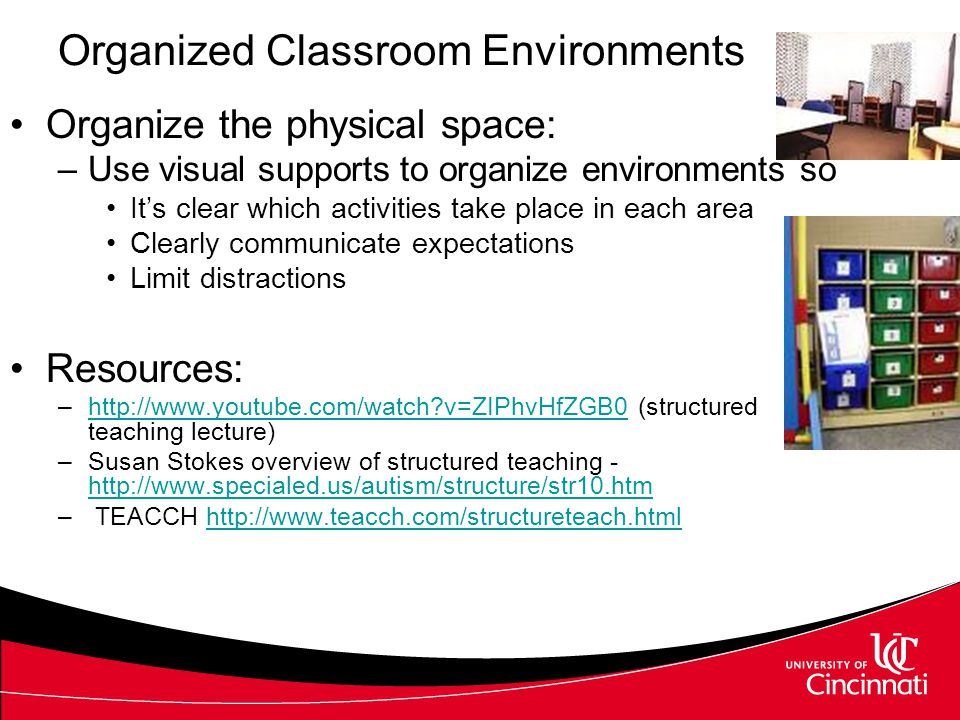 General Instructional Considerations QLI aligns with the needs of each individual student and may include –Organized classroom environments –Visual supports –Structured instruction –Embedded supports –Maintenance and generalization planning (Hume, in press)