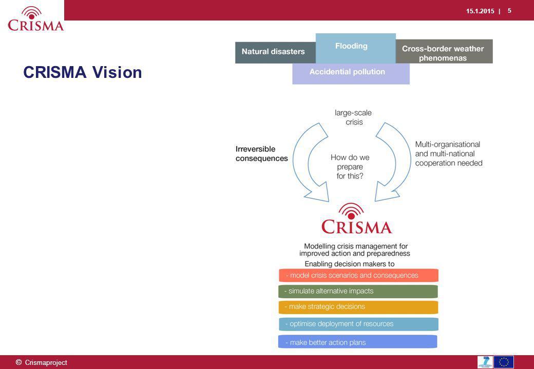 15.1.2015 | 5 © Crismaproject CRISMA Vision