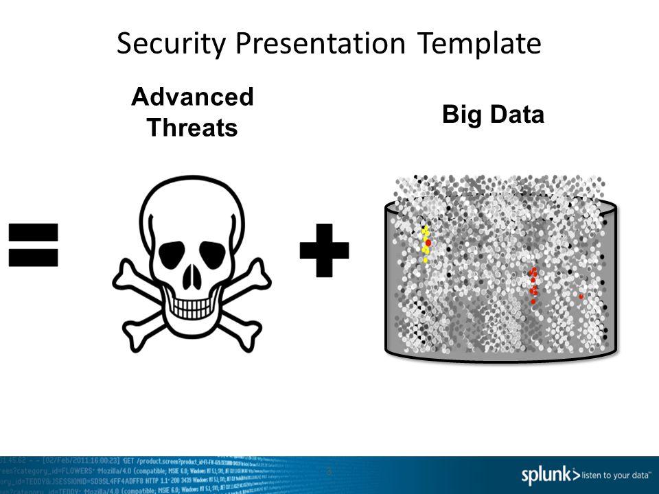 Security Presentation Template 3 Big Data Advanced Threats