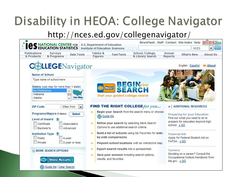 http://nces.ed.gov/collegenavigator/