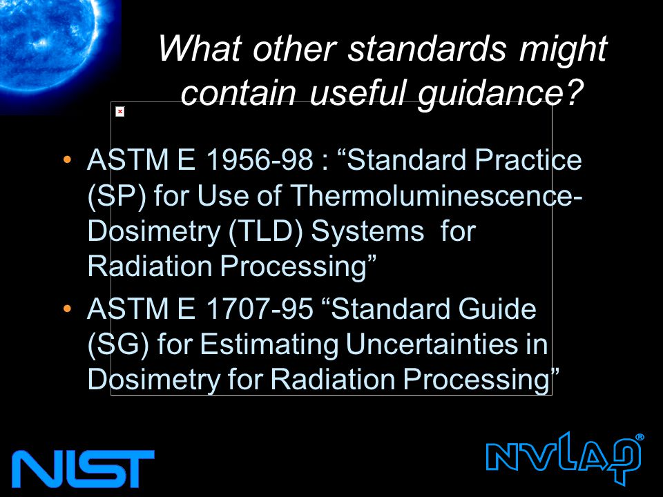 What other standards might contain useful guidance.