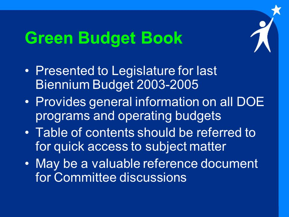 EDN 100: School-Based Budgeting School Lump-Sum Budget Programs -- Initiated in Legislative Session 1993.