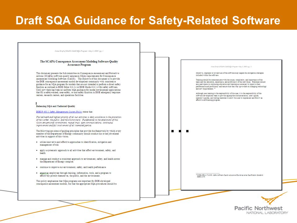 Draft SQA Guidance for Safety-Related Software …