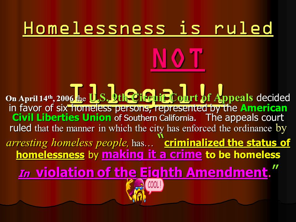 http://homelessreality.wetpaint.com Either EXERCISE your FREEDOMS… …or they will be EXORCISED!.