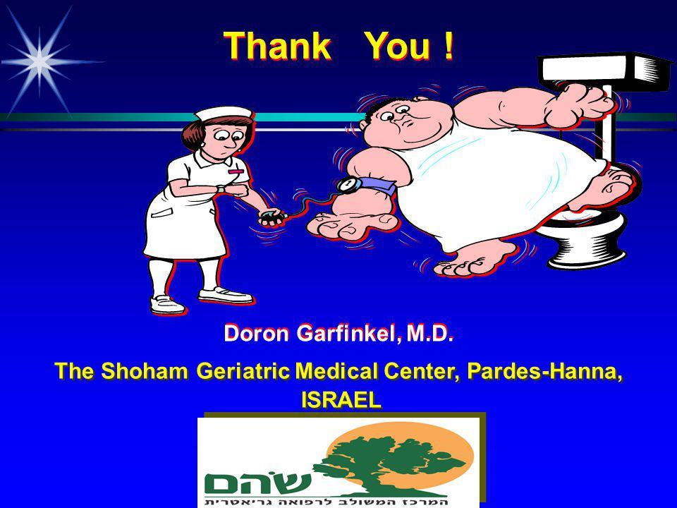 The Shoham Geriatric Medical Center, Pardes-Hanna, ISRAEL The Shoham Geriatric Medical Center, Pardes-Hanna, ISRAEL Thank You .