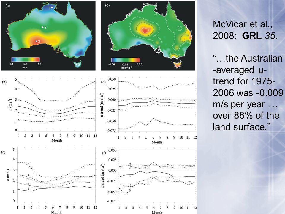 McVicar et al., 2008: GRL 35.