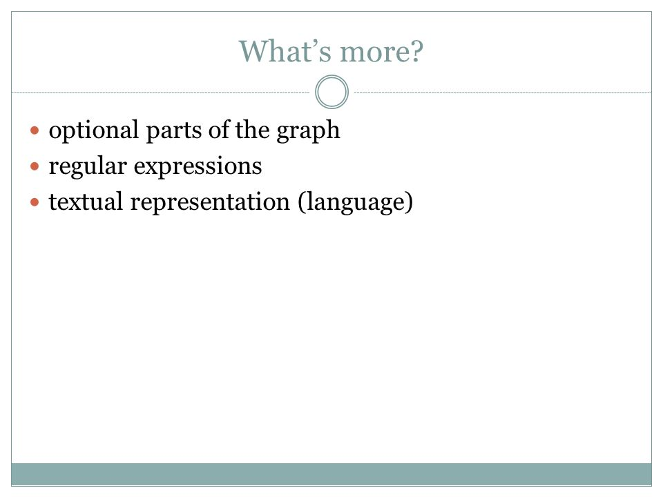 What's more optional parts of the graph regular expressions textual representation (language)