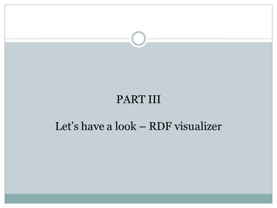 PART III Let's have a look – RDF visualizer