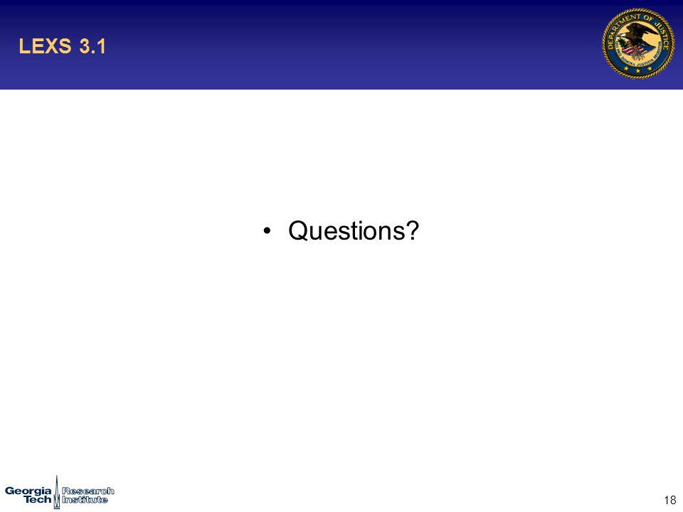 18 LEXS 3.1 Questions