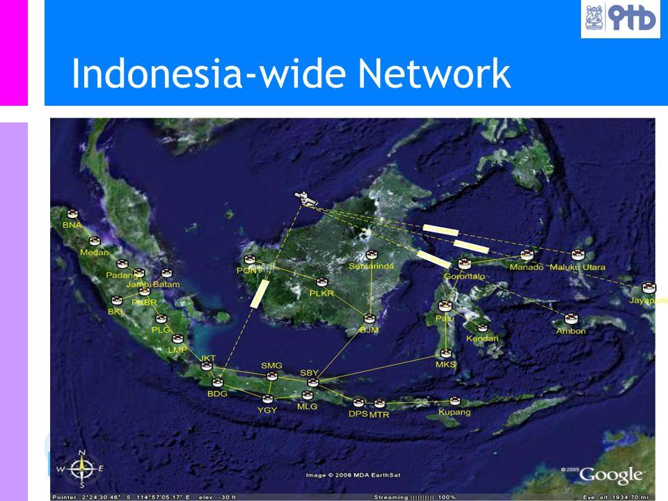 Information Resources Unit Teknologi Bandung IRU Indonesia-wide Network