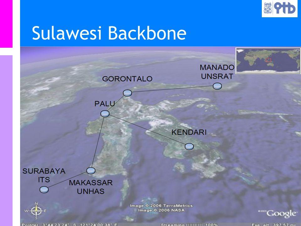 Information Resources Unit Teknologi Bandung IRU Sulawesi Backbone