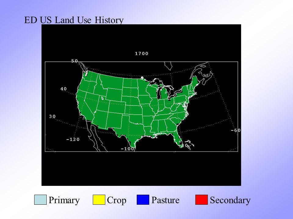 ED US Land Use History PrimaryCropPastureSecondary