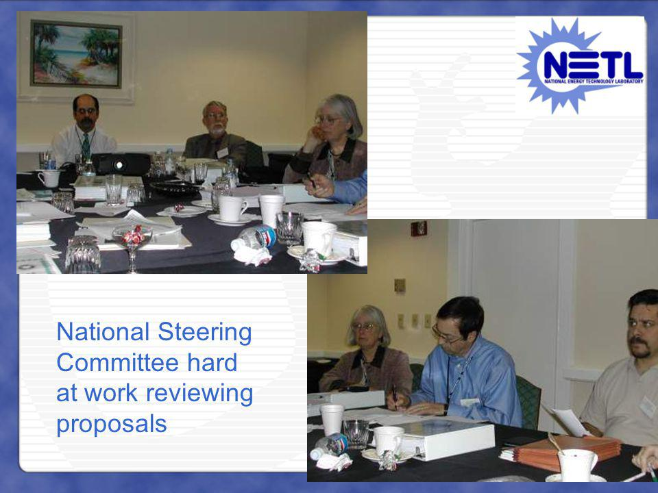 National Steering Committee hard at work reviewing proposals