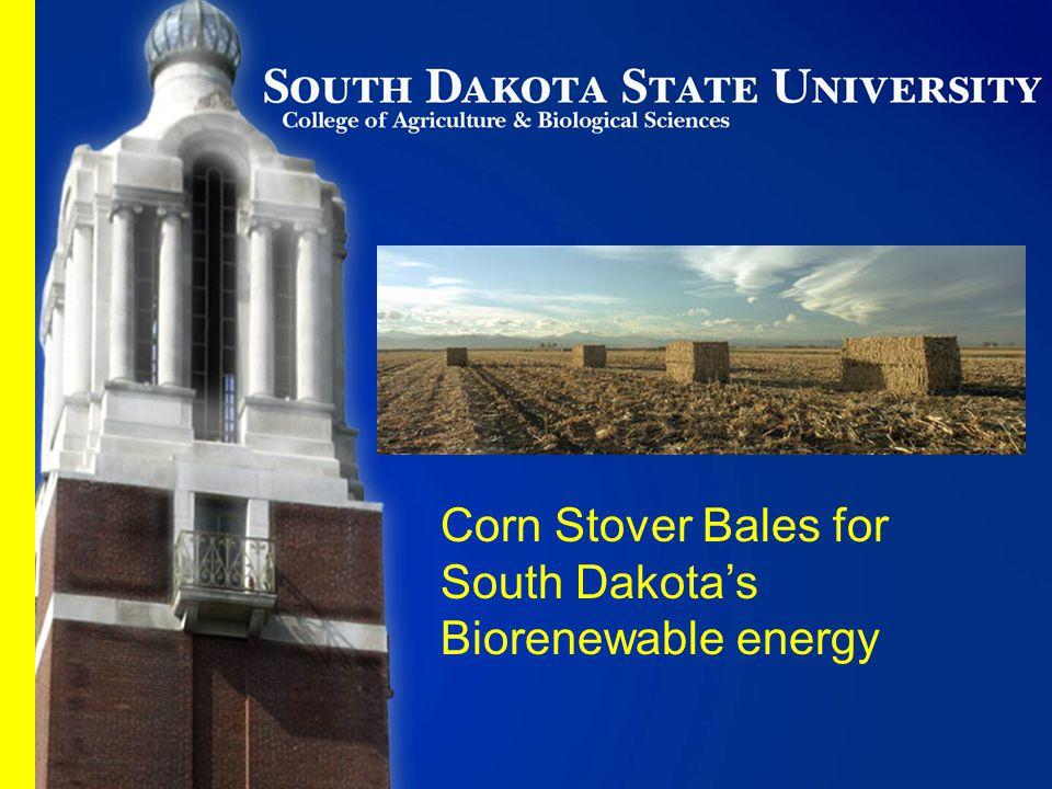 Corn Stover Bales for South Dakota's Biorenewable energy