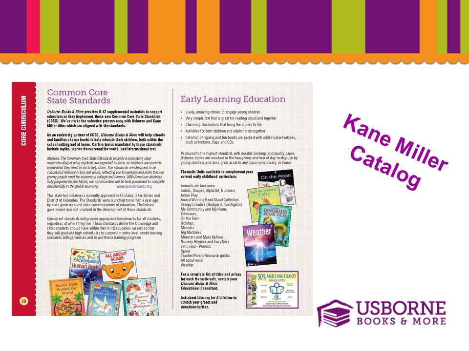 Common Core State Standards Kane Miller Catalog