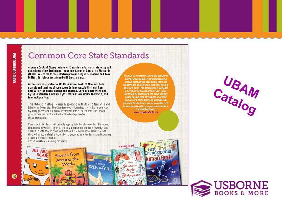 Common Core State Standards UBAM Catalog