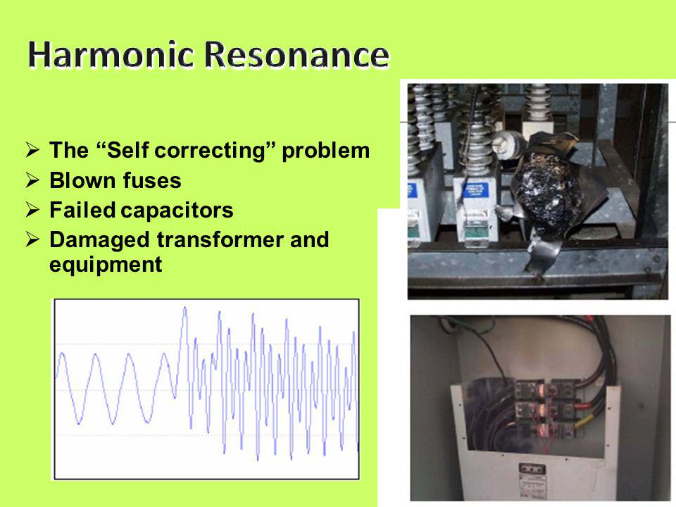 26  The Self correcting problem  Blown fuses  Failed capacitors  Damaged transformer and equipment