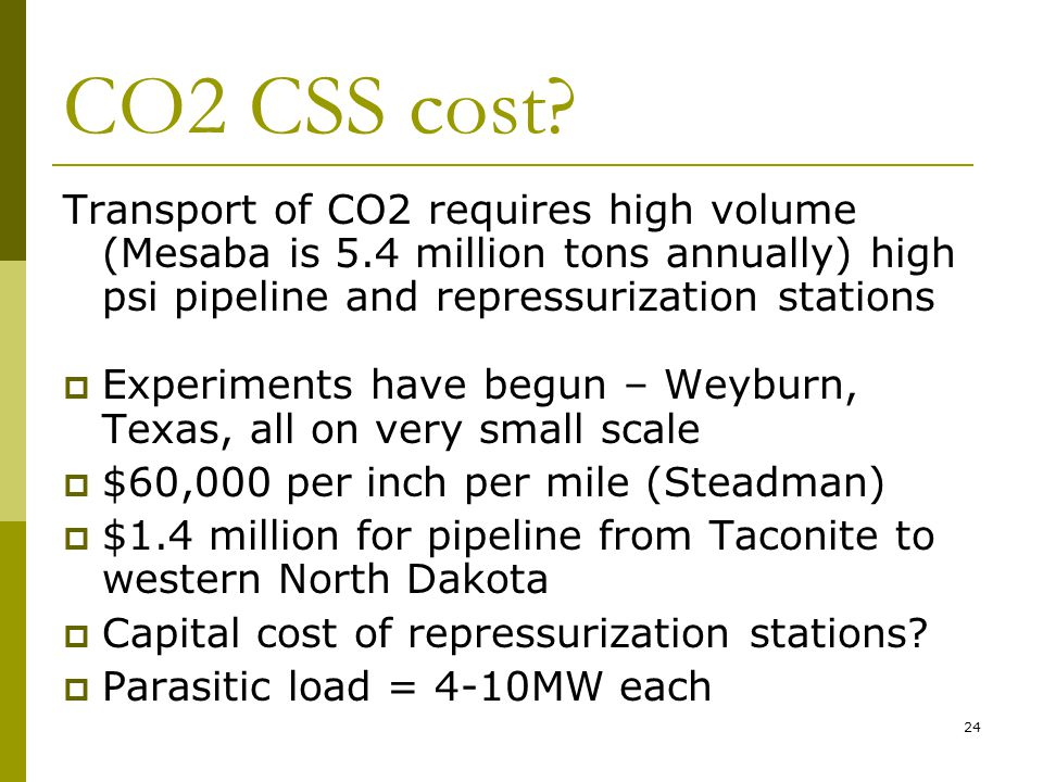 24 CO2 CSS cost.