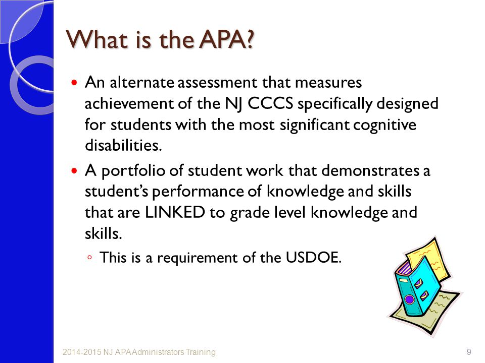 What is the APA.