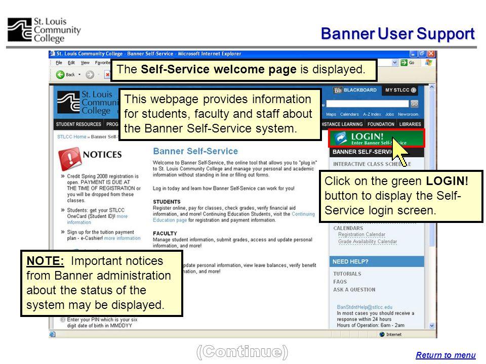 The My STLCC webpage is displayed.