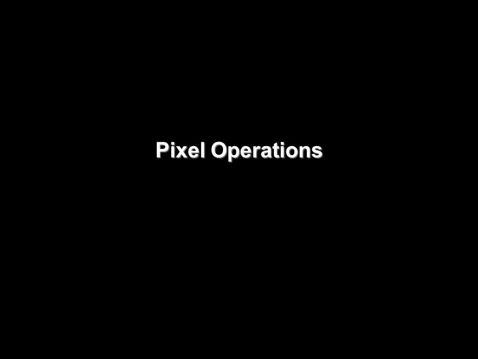 Pixel Operations