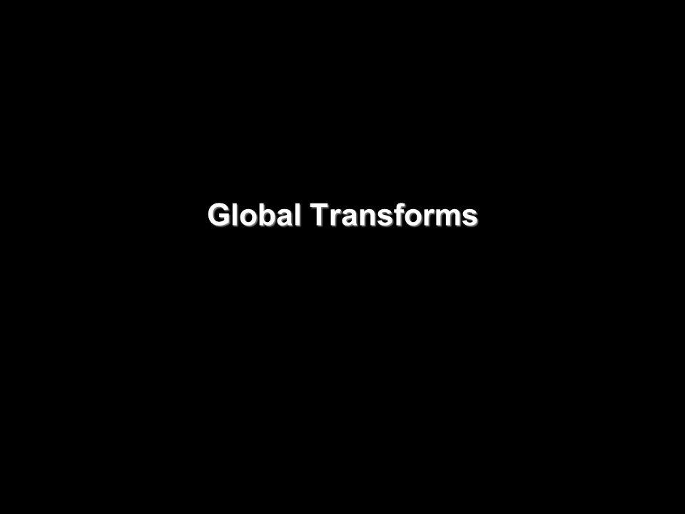 Global Transforms