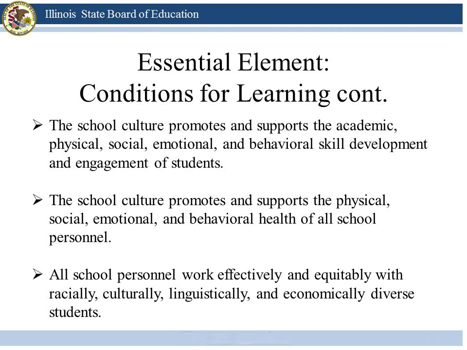  The school culture promotes and supports the academic, physical, social, emotional, and behavioral skill development and engagement of students.  T