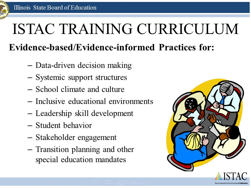 Basic FBA/BSP ISTAC SERVICES ISTAC TRAINING CURRICULUM – Data-driven decision making – Systemic support structures – School climate and culture – Incl