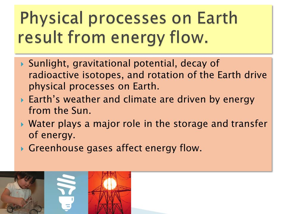  The Sun is the major source of energy for organisms and the ecosystems of which they are a part.