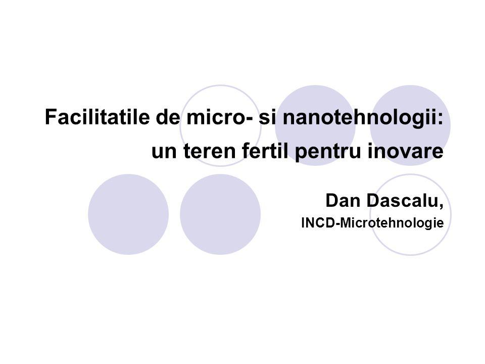 Facilitatile de micro- si nanotehnologii: un teren fertil pentru inovare Dan Dascalu, INCD-Microtehnologie