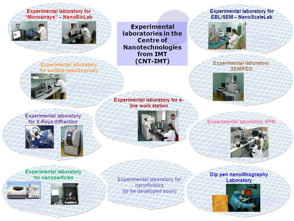 "Experimental laboratory for ""Microarrays"" – NanoBioLab Scanner microarray (GeneTAC UC4) Ploter microarray (GeneMachines OmniGrid Micro) Experimental l"