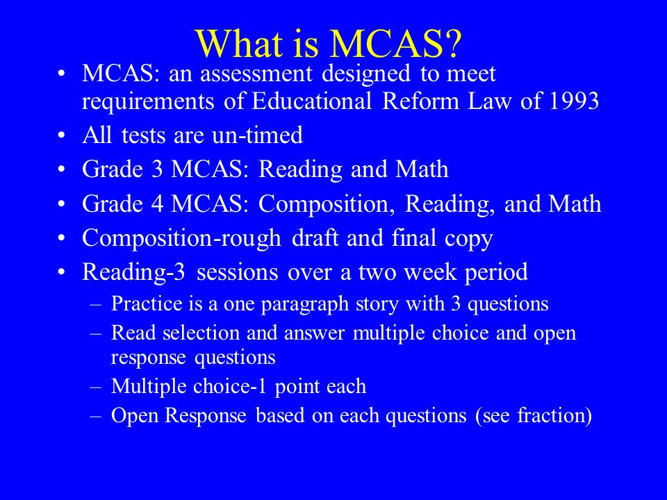 What is MCAS.