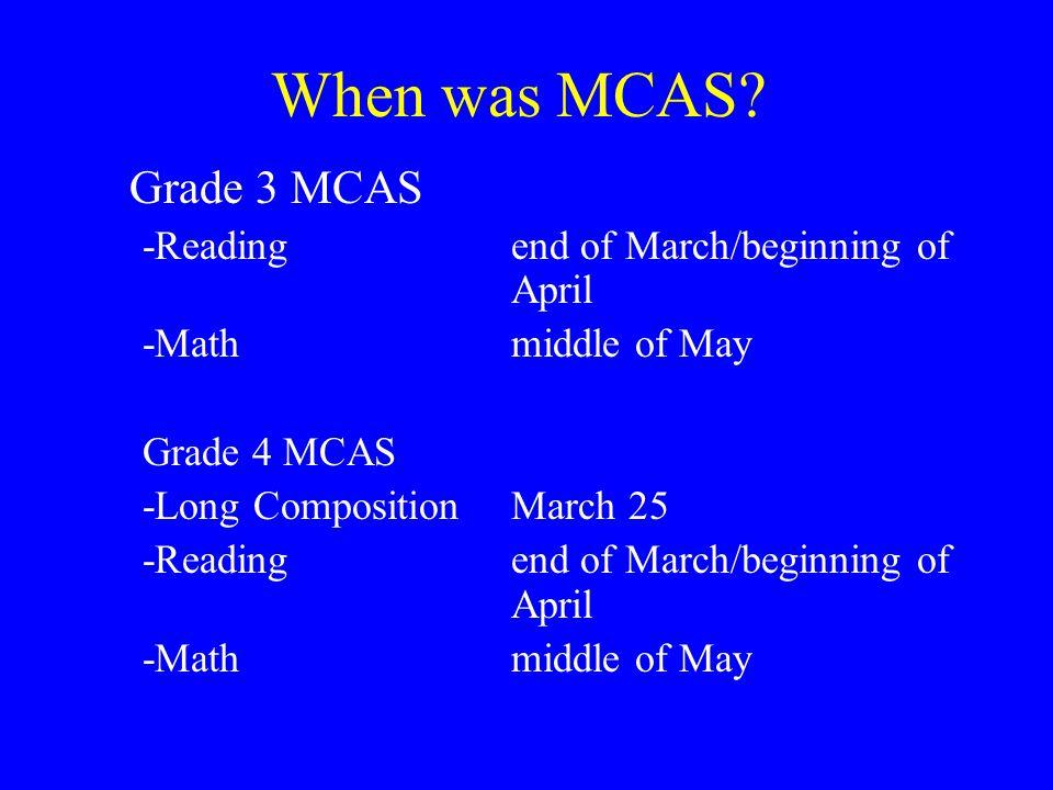 When was MCAS.