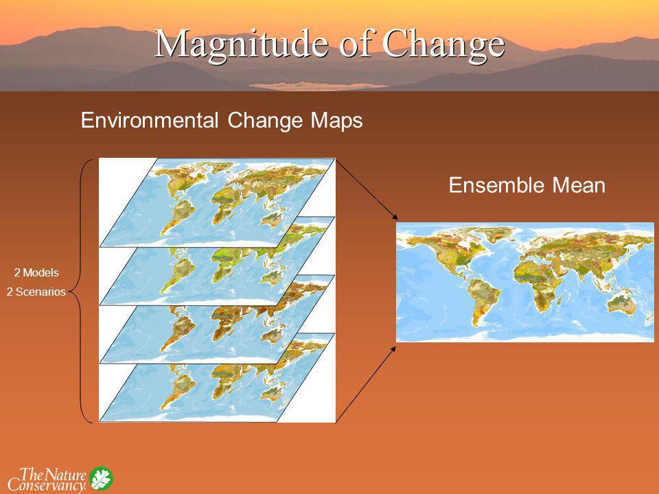 Ensemble Mean Environmental Change Maps 2 Models 2 Scenarios