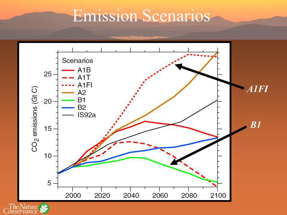 A1FI B1 Emission Scenarios