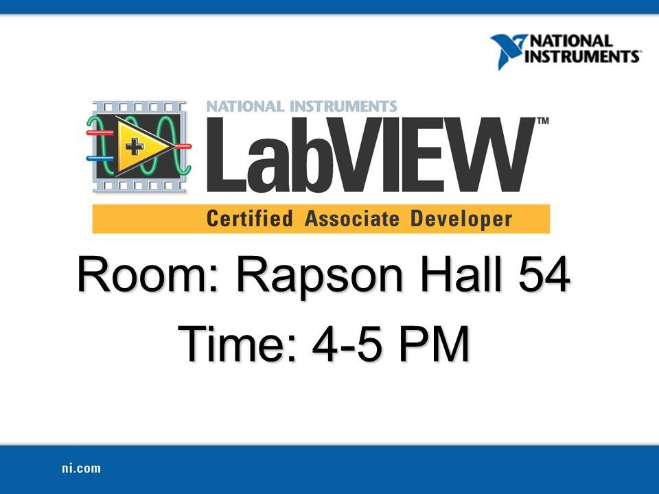 Room: Rapson Hall 54 Time: 4-5 PM