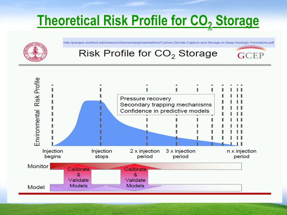 Theoretical Risk Profile for CO 2 Storage