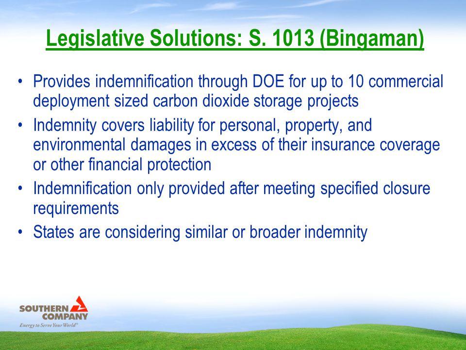 Legislative Solutions: S.