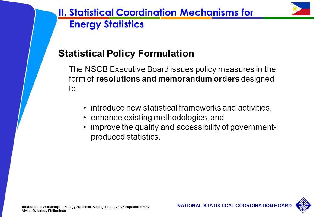 12 NATIONAL STATISTICAL COORDINATION BOARD International Workshop on Energy Statistics, Beijing, China, 24-26 September 2012 Vivian R.