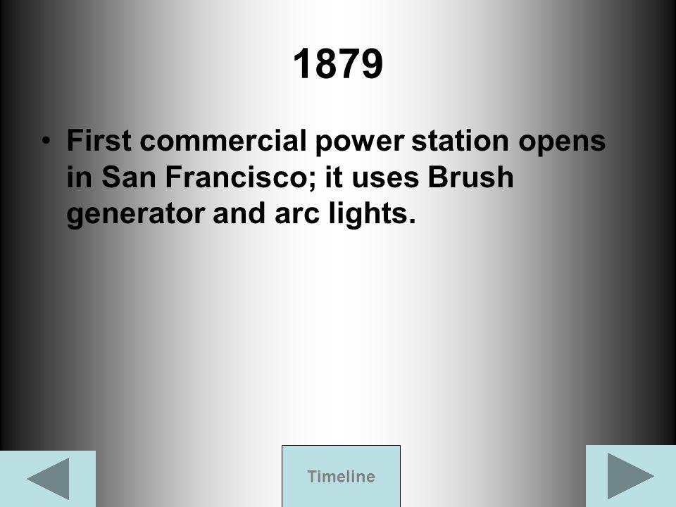 1882 Thomas Edison's Pearl Street Station appears.