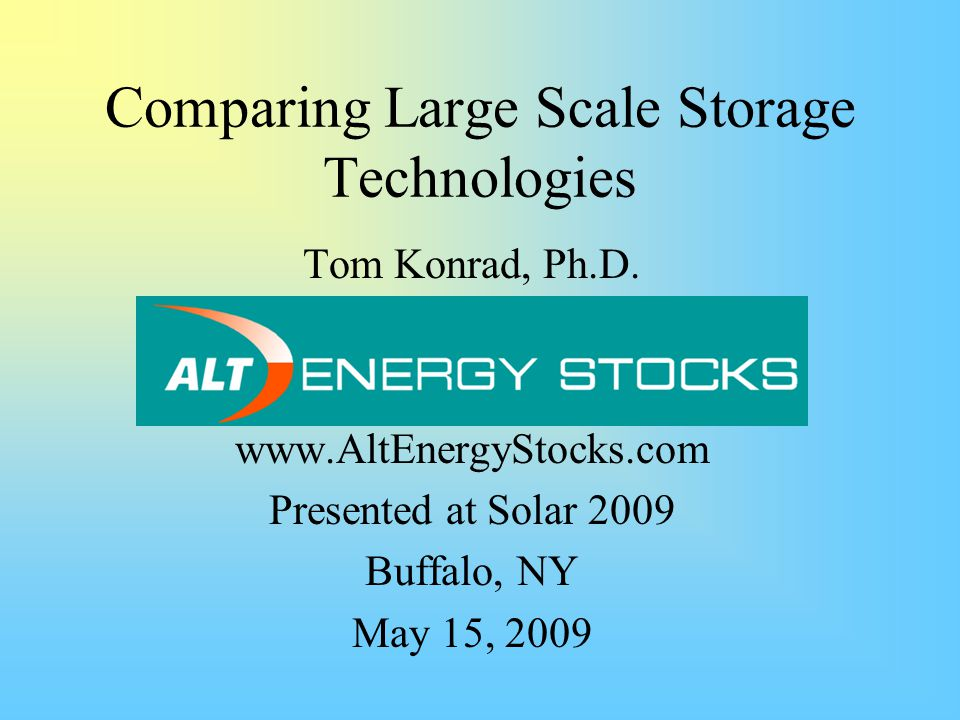 Outline Characteristics of Energy Storage Technologies Technology Options Technology Comparisons References