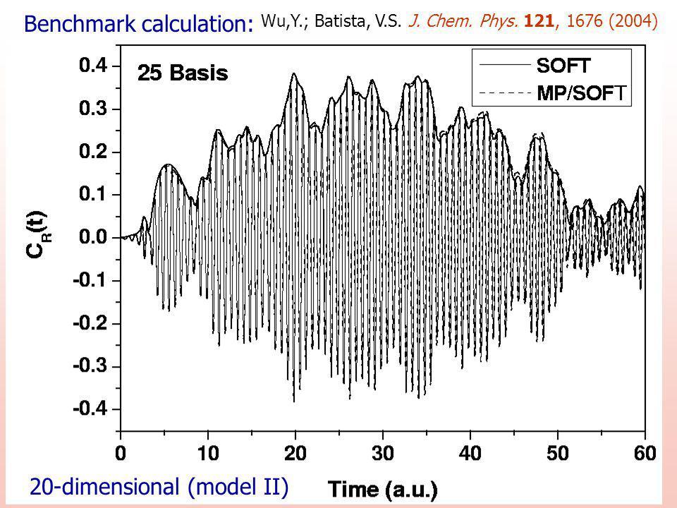 20-dimensional (model II) Benchmark calculation: Wu,Y.; Batista, V.S.