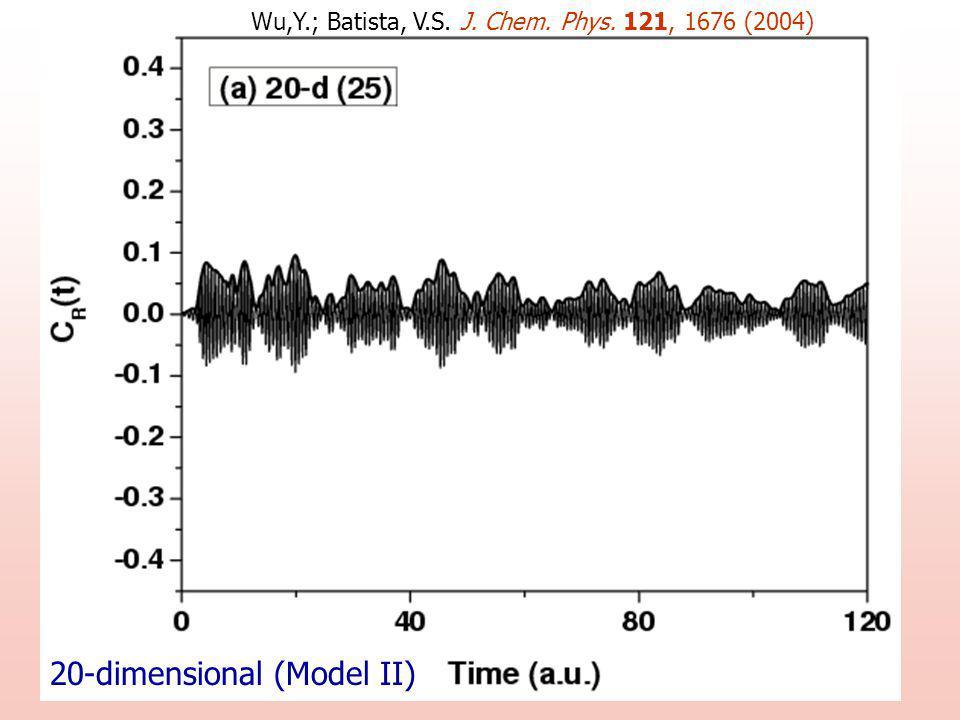 20-dimensional (Model II) Wu,Y.; Batista, V.S. J. Chem. Phys. 121, 1676 (2004)