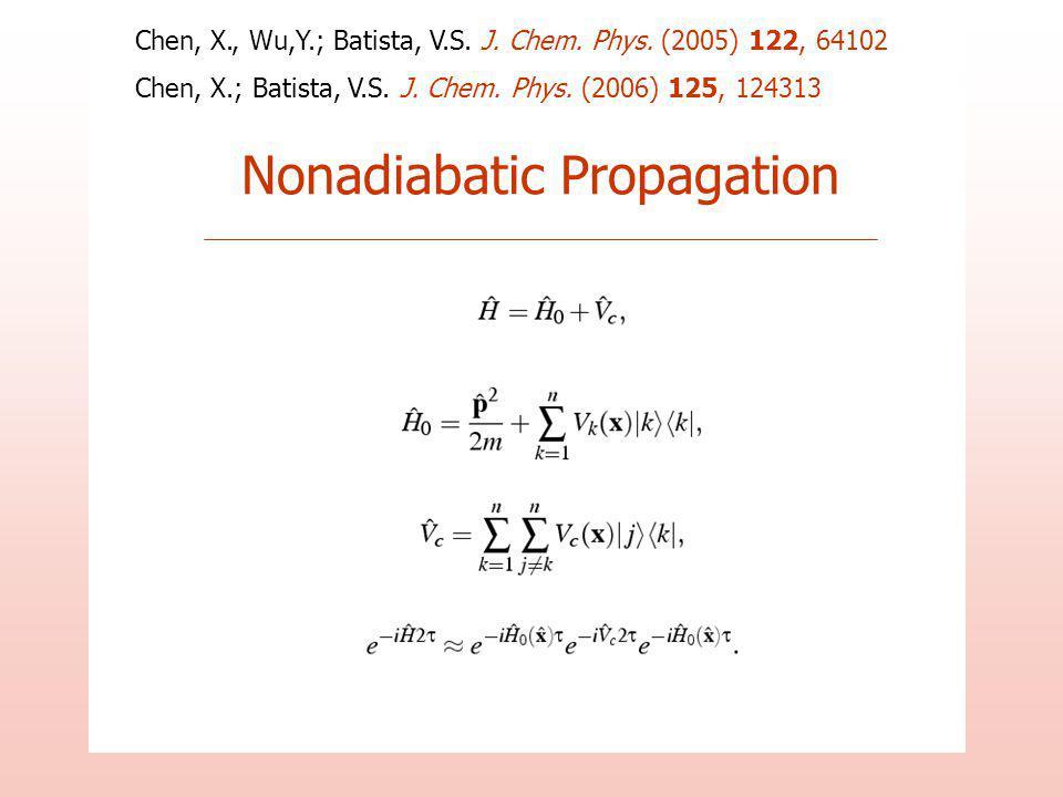Nonadiabatic Propagation Chen, X., Wu,Y.; Batista, V.S.