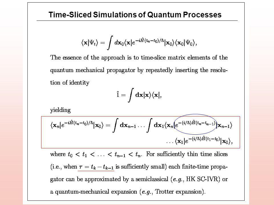 Time-Sliced Simulations of Quantum Processes
