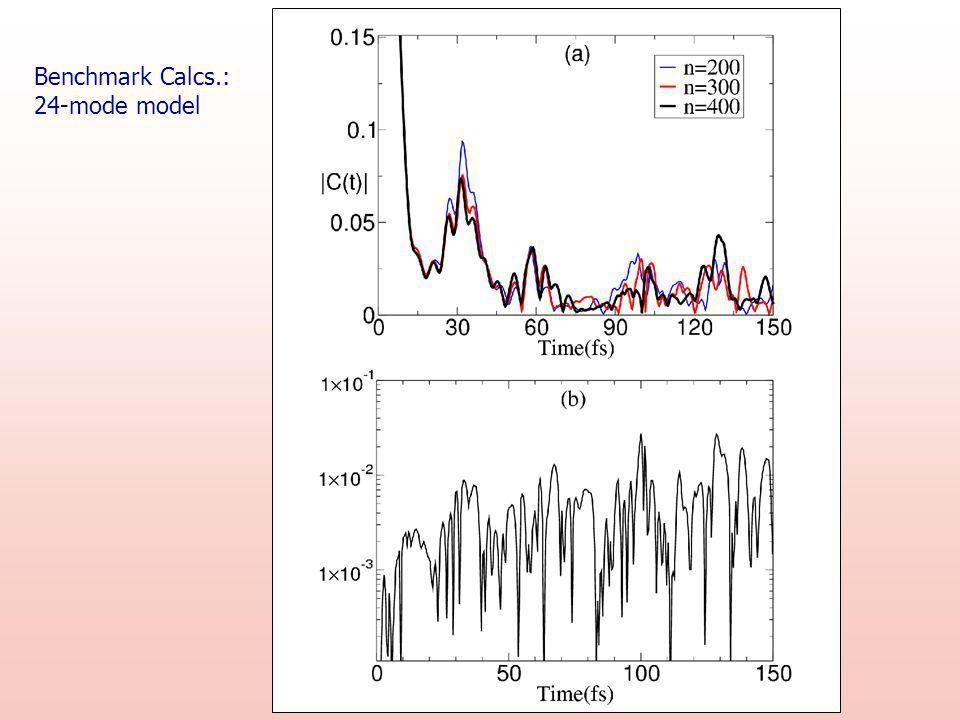 Benchmark Calcs.: 24-mode model