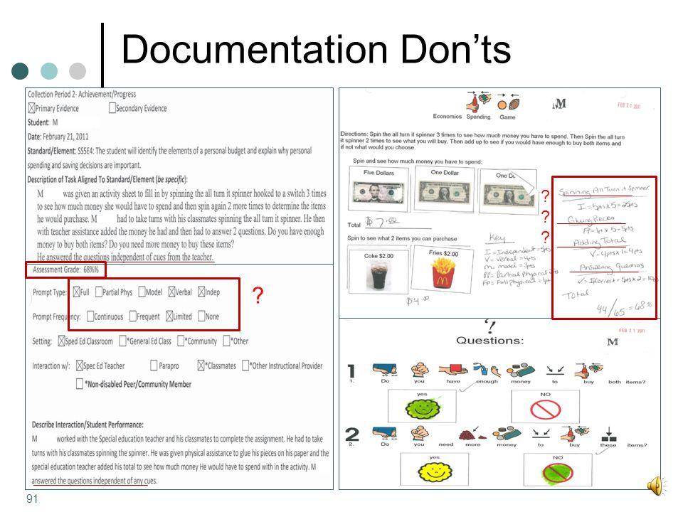 Documentation Don'ts ?????? ? 91