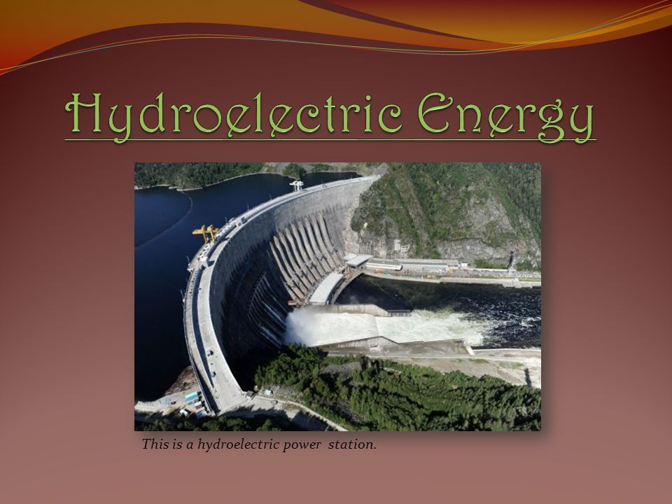 This is a hydroelectric power station.